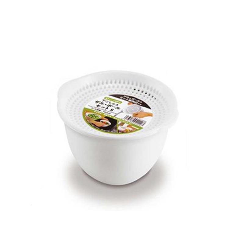 ✪SANADA日本带盖可沥水碗 微波炉加热碗 S号