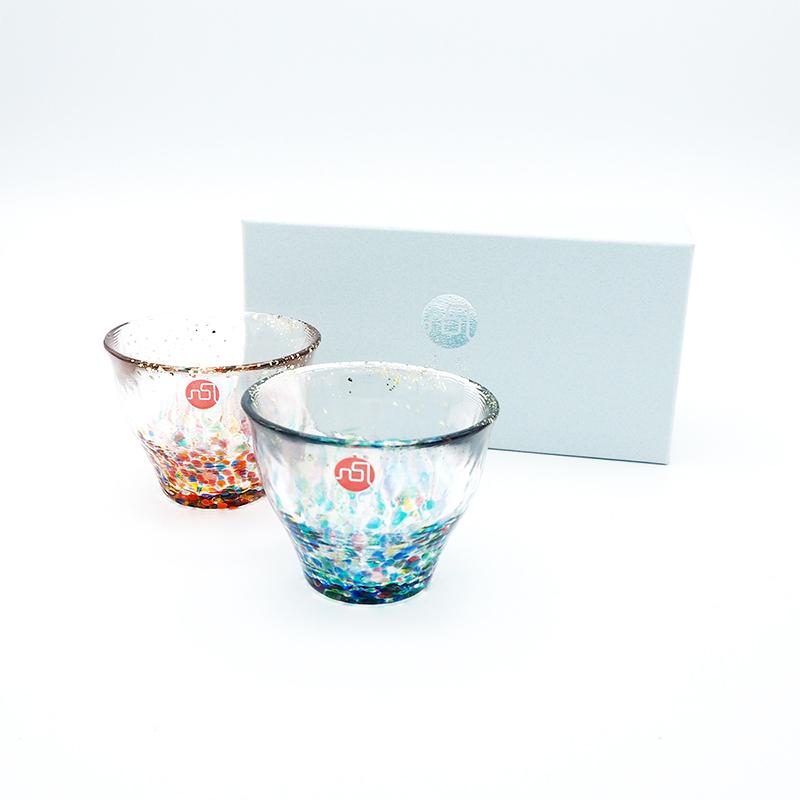 ADERIA日本小宽口酒杯(2个装)85ml