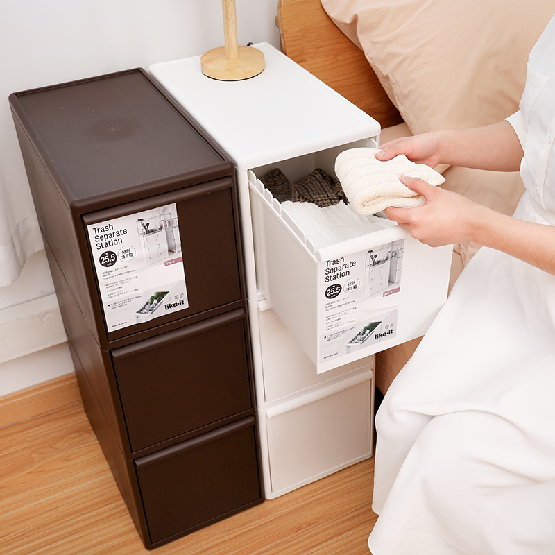 LIKE  IT日本33段抽屉宽型垃圾桶