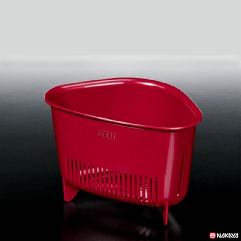 NAKAYA日本三角沥水篮塑料收纳篮