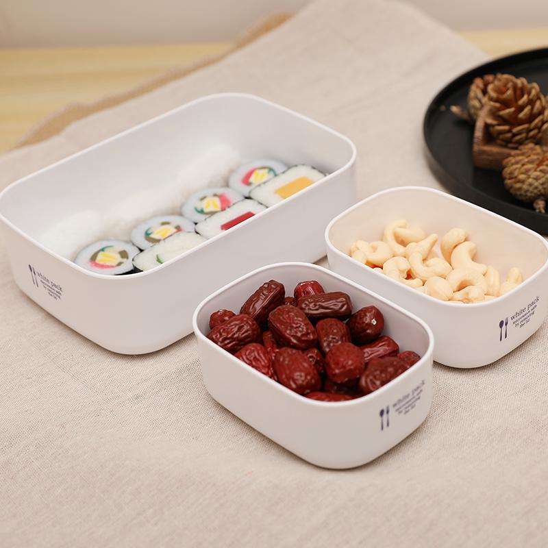 NAKAYA日本纯白塑料保存盒700 (M)