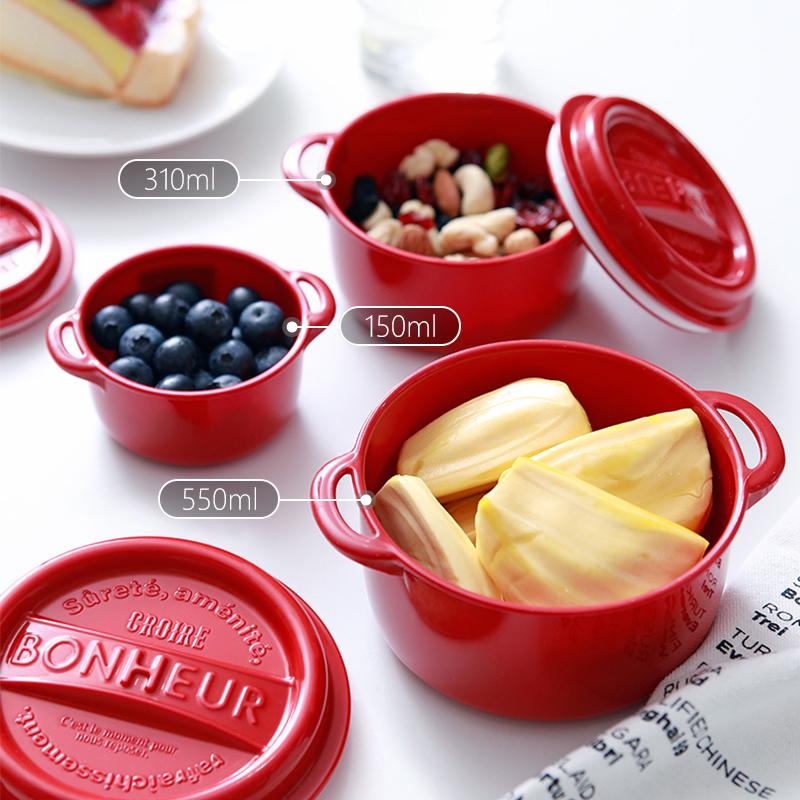 YAMADA日本进口食物收纳盒厨房冰箱保鲜盒水果盒塑料辅食盒便当盒550ML塑料保鲜盒