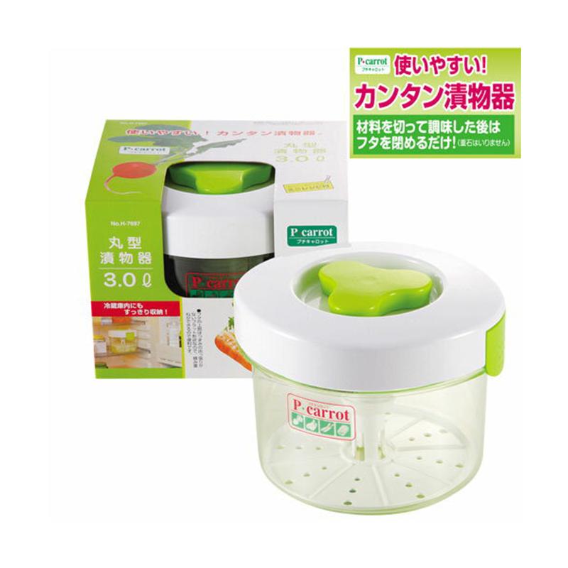 PEARL日本P CARROT 圆型泡菜腌渍泡菜器3ℓ