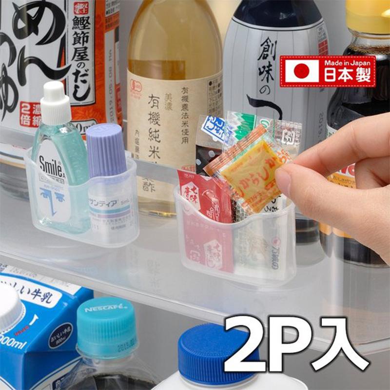 INOMATA日本冰箱调味收纳小盒2个装(透明色)