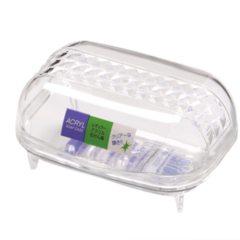 INOMATA日本水晶透明滴水皂盒