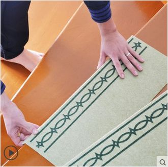 ✪【限量特惠】SANKO-GP日本连纹楼梯垫  脚踏垫子 防滑垫 绿色 15枚入