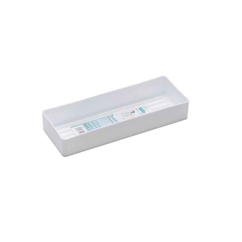 YAMADA日本白色柔软餐收纳盒(长条)