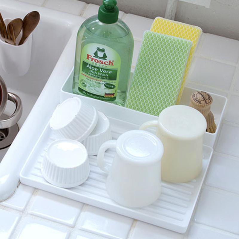 YAMADA日本白色柔软餐收纳板盒