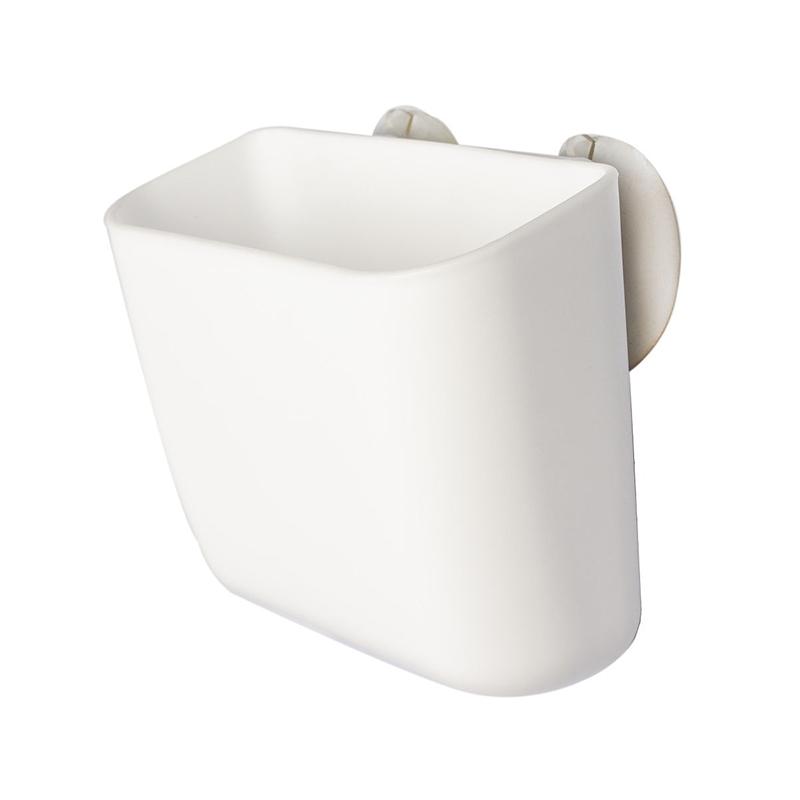 YAMADA日本白色柔软吸盘小收纳袋