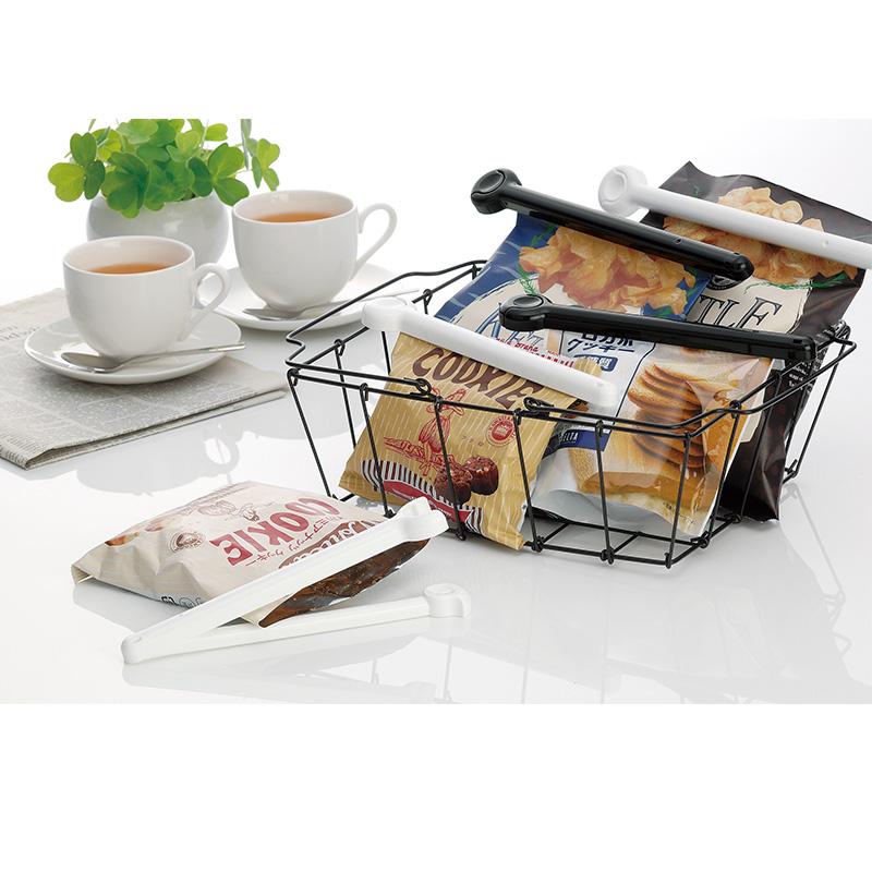 INOMATA日本进口食品封口夹 零食密封夹 保鲜袋夹子 米色 2P(废色)
