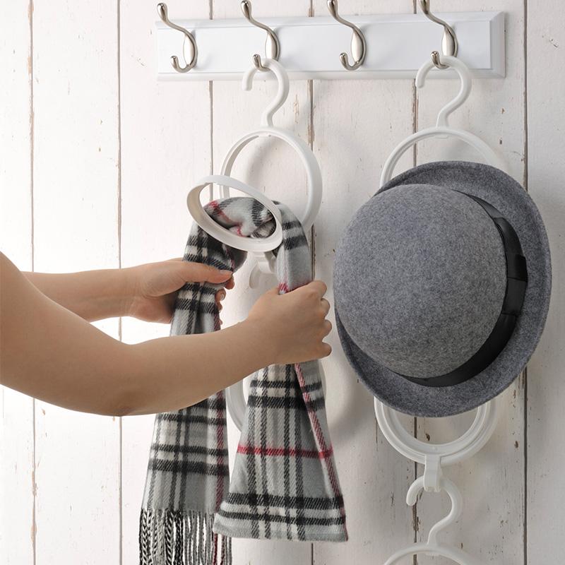 INOMATA日本折叠式衣帽架塑料帽子架