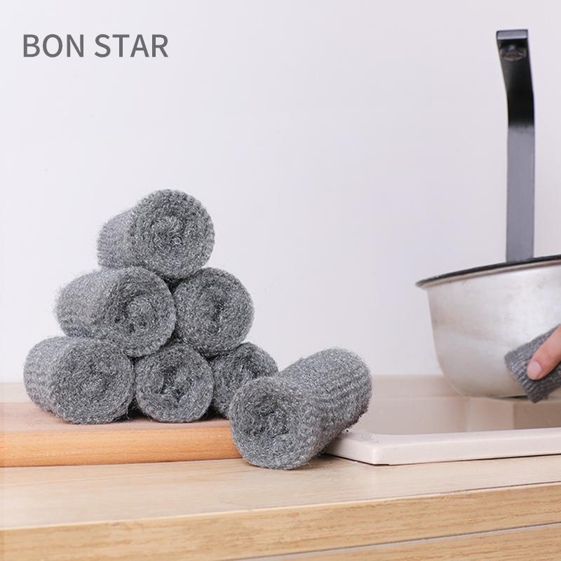 ✦BON STAR日本不锈钢清洁钢丝棉  刷锅钢丝球 洗碗钢丝绒 12枚入(只接现货)钢丝球
