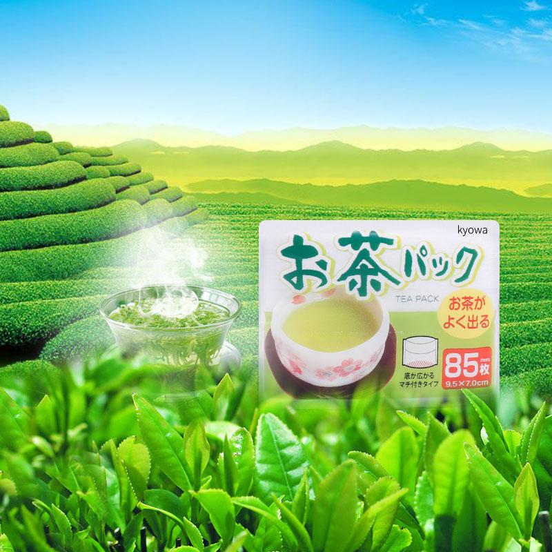 KYOWA日本滤茶袋 茶包袋一次性泡茶叶无纺布过滤袋煎中药煮炖肉卤料包 85枚入滤茶包