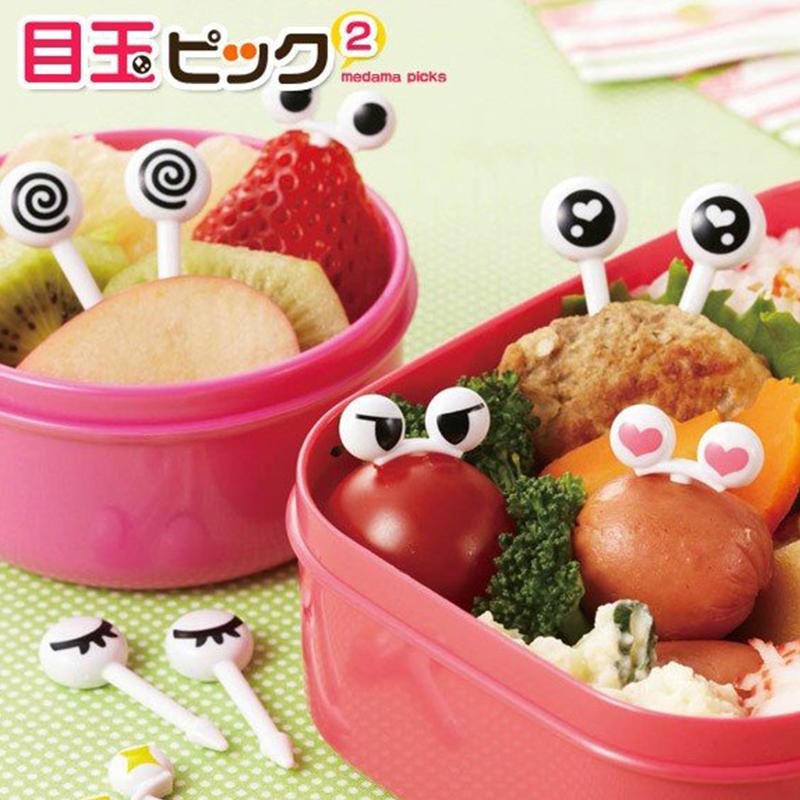 TORUNE日本眼球便當小叉塑料食物簽