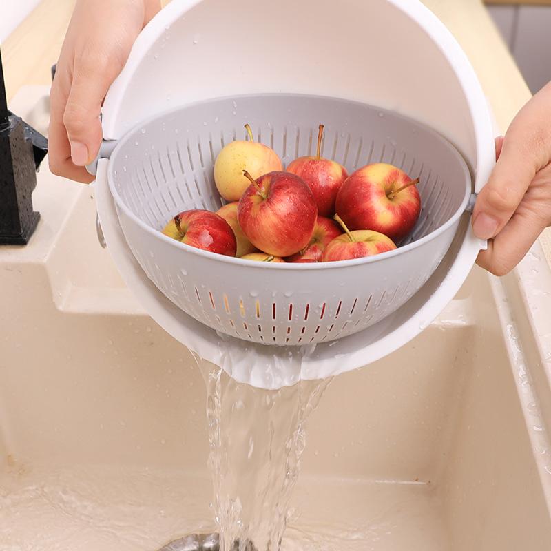 【控价】KOKUBO日本进口洗菜沥水篮 水果清洗篮 (大号)