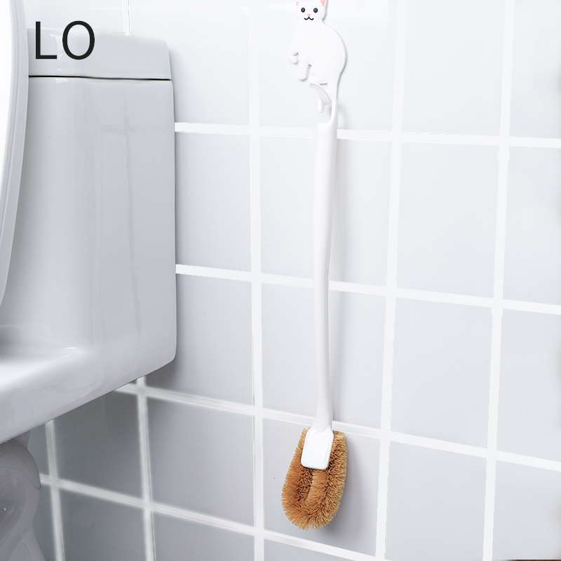 LO日本長柄棕毛馬桶刷 衛生間清潔刷