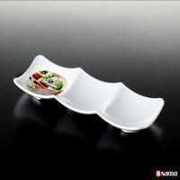 NAKAYA日本瓷器风格3格方盘餐盘白色(2012)