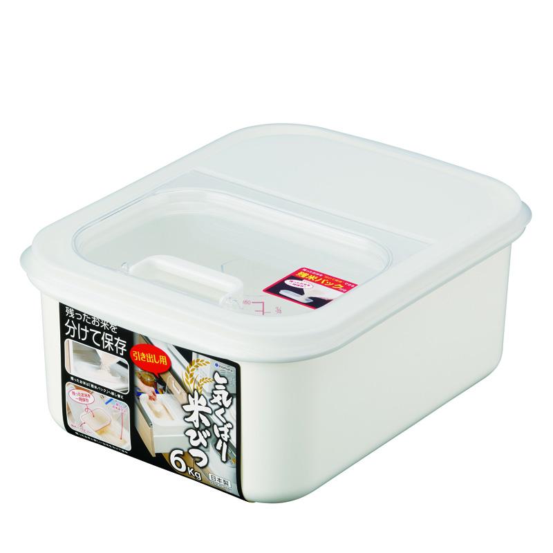 INOMATA日本米桶塑料米桶6kg
