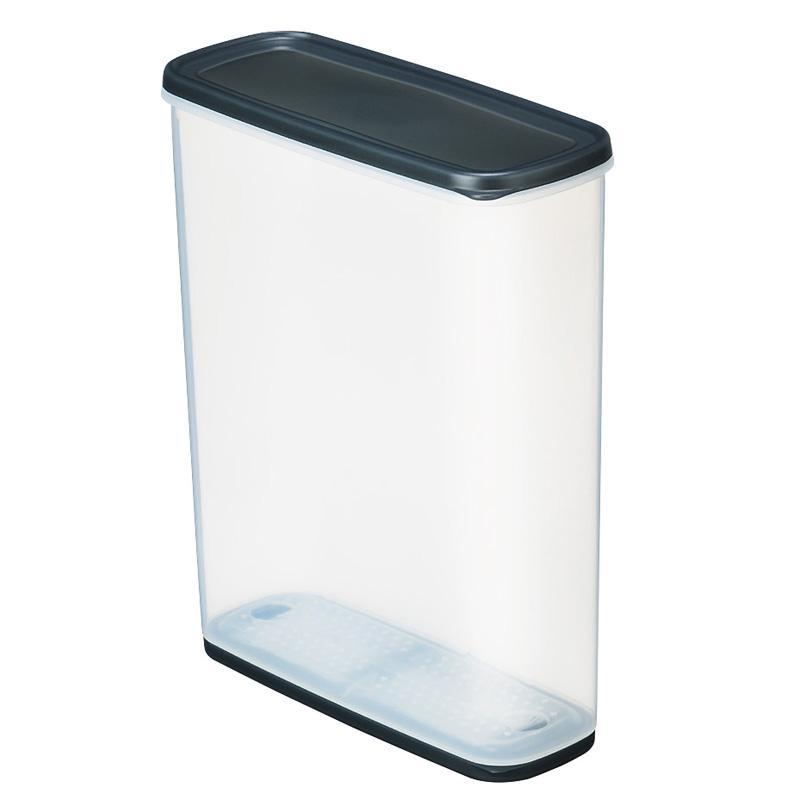 INOMATA日本进口干果储存罐 冰箱保鲜盒  杂粮罐 米桶防潮罐 6L