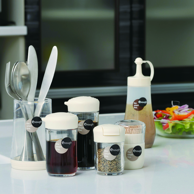 INOMATA日本厨房专用调味瓶塑料调味罐