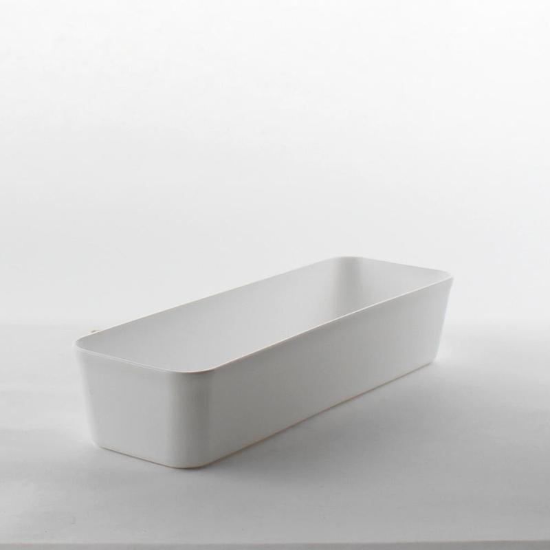 HIMARAYA日本 純白軟質收納盒收纳盒L型