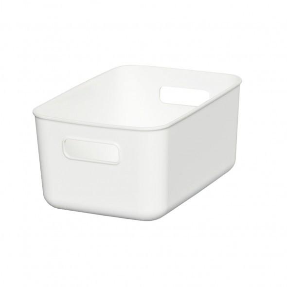 HIMARAYA日本 純白軟質收納盒收纳盒L型 (手柄式)