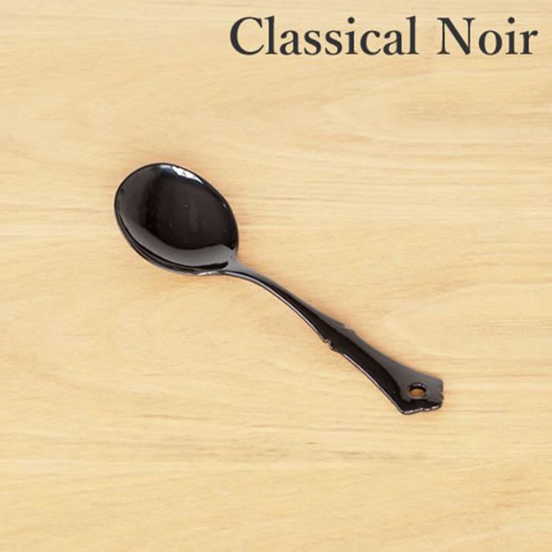 TAKAKUWA日本古典设计珐琅汤勺黑色