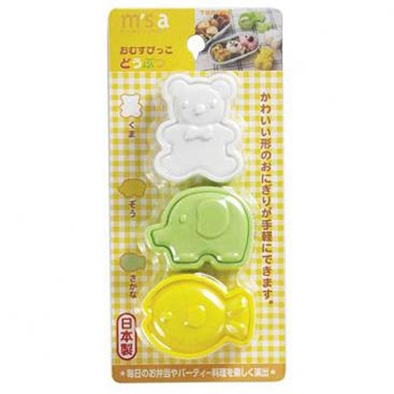 TORUNE日本3种可爱动物饭团模具