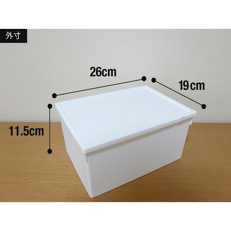 HIMARAYA日本白色带盖多功能收纳盒 L