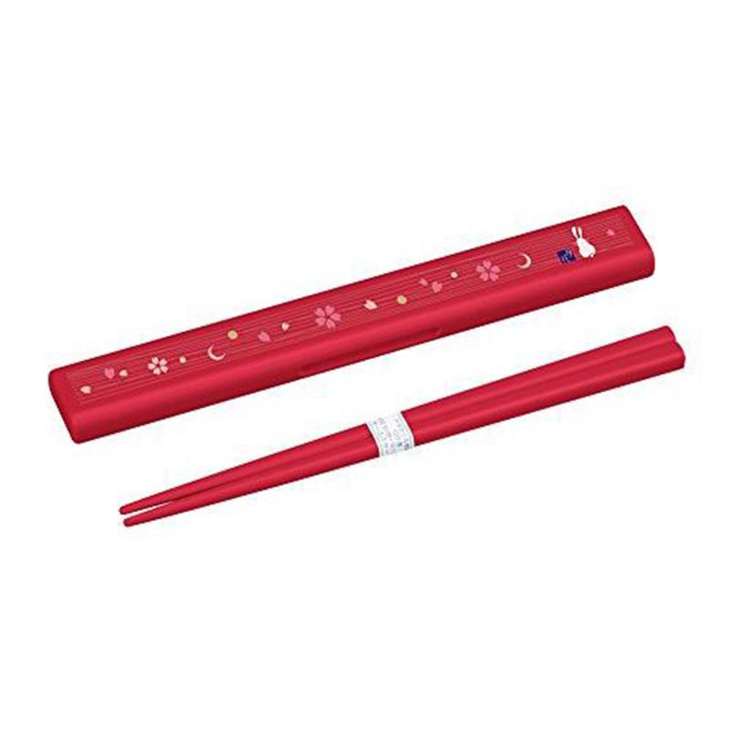 OSK日本日式和风 (月花系列)筷子付盒套装筷子盒