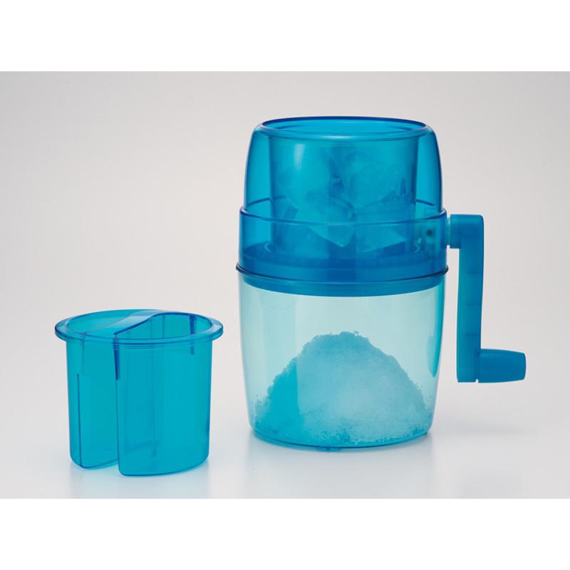 IMOTANI日本家用手动刨冰制作器,蓝色  可使用任何形状普通冰块
