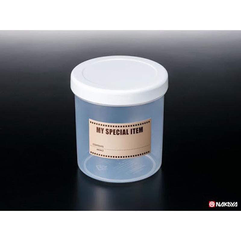 NAKAYA日本保存容器1.1L 附有可写内容的贴纸单色单款保鲜罐