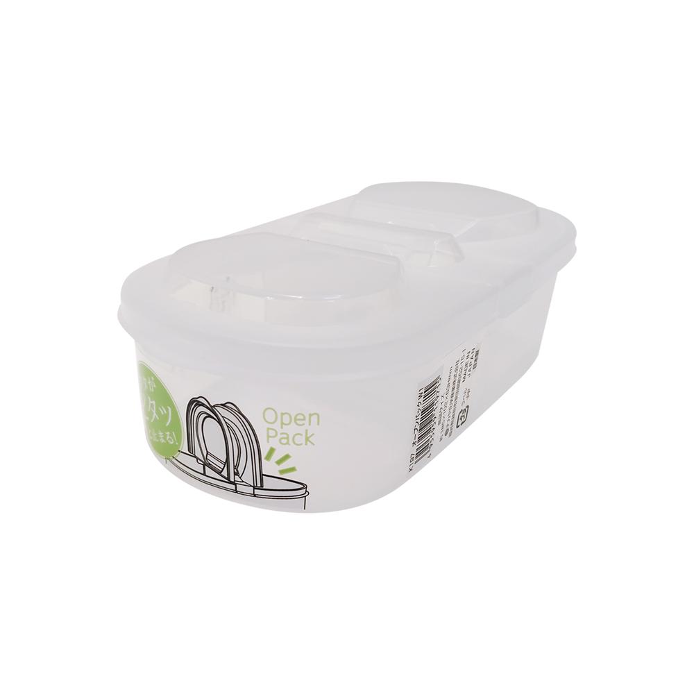 NAKAYA日本双开式密封盒(600ml)塑料保鲜盒