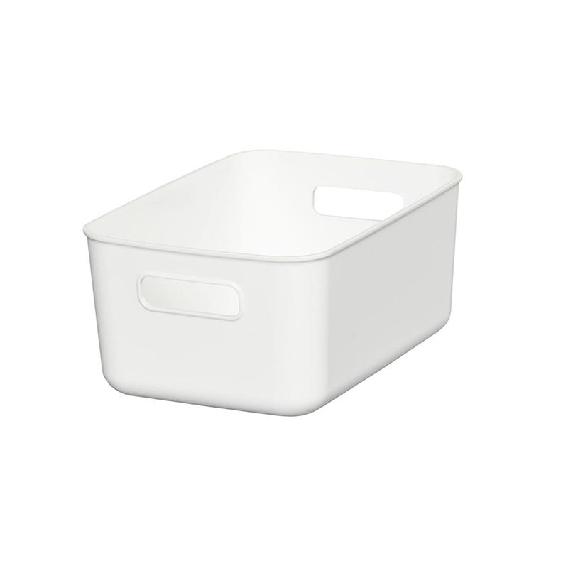 HIMARAYA日本軟製塑料收納BOX 淺窄型  白  灰   藍  三種顏色