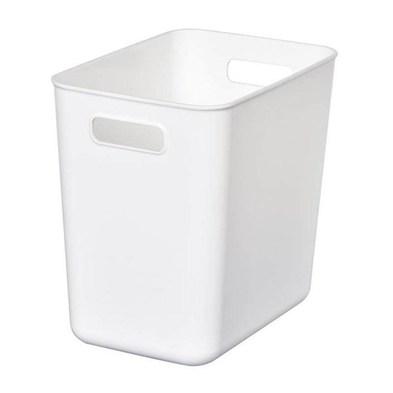 HIMARAYA日本軟製塑料收納BOX 深窄型 白  灰  藍