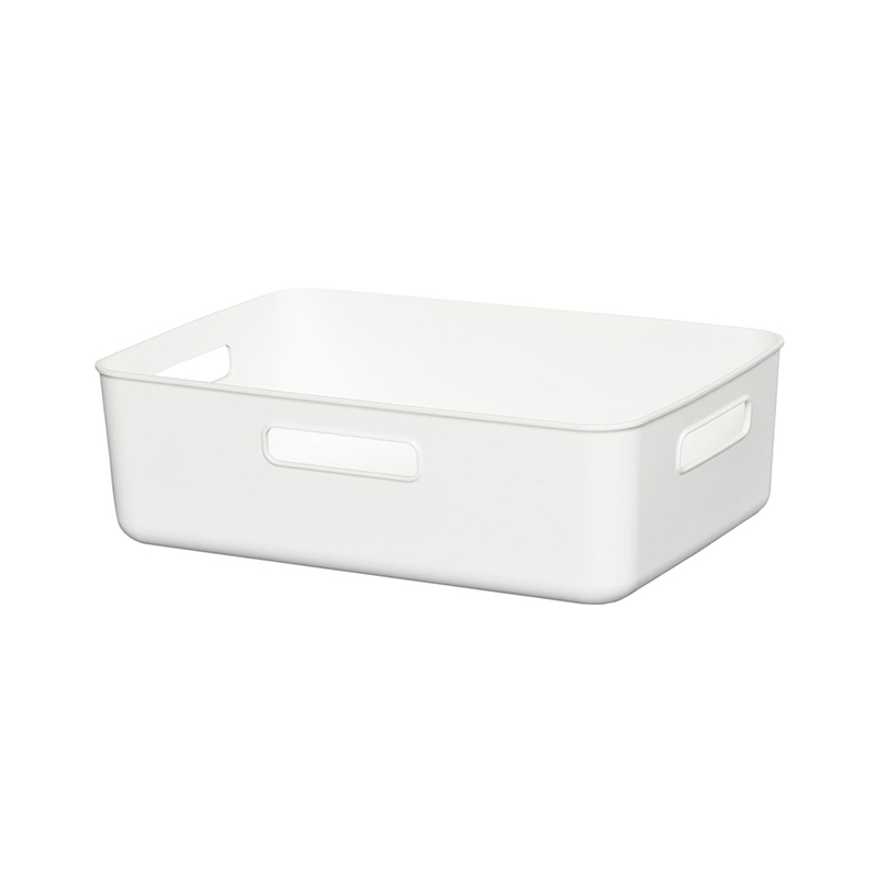 HIMARAYA日本軟製塑料收納BOX 淺寬型  白  灰  藍