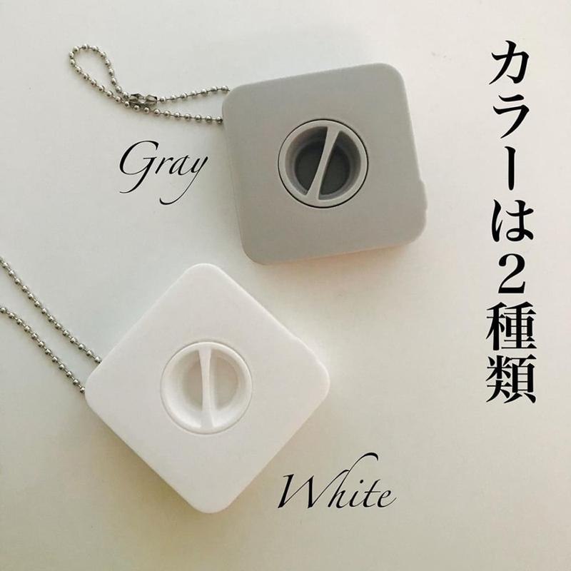 YAMADA日本卷轉伸縮的數據線,耳機線存儲盒    灰白混色