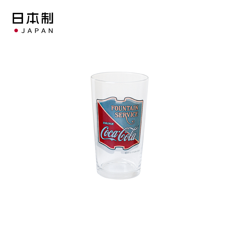 ADERIA日本 可口可樂玻璃傳統設計玻璃玻杯C璃水杯