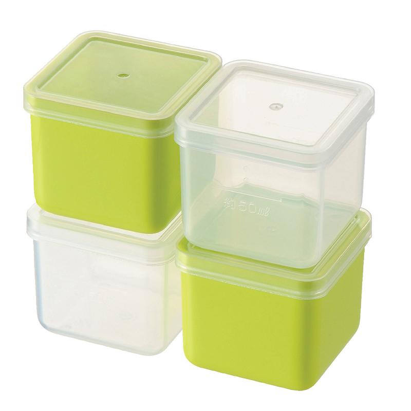 AKEBONO日本彩色分格保鲜盒 4个装