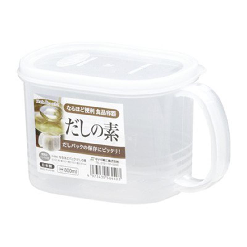 SANADA日本带手柄汤料保鲜盒800ml(废盘2110)