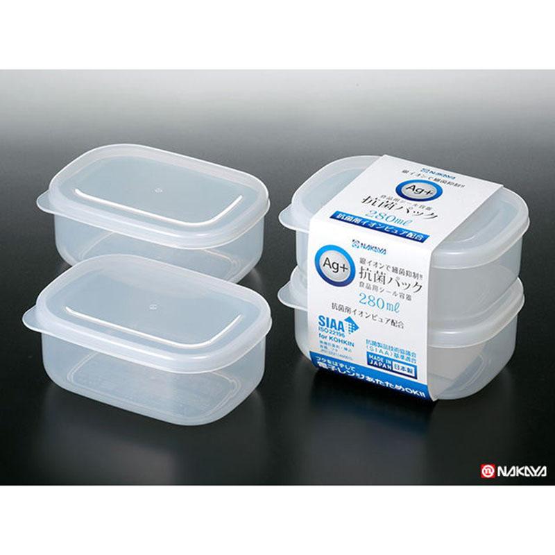 NAKAYA日本抗菌保鲜盒 2个入280ml