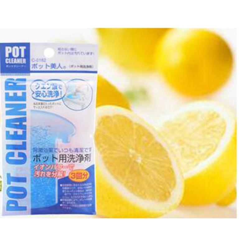 SANADA日本进口柠檬酸除垢剂烧水壶清洗剂家用食品级去茶渍除水垢清洁剂