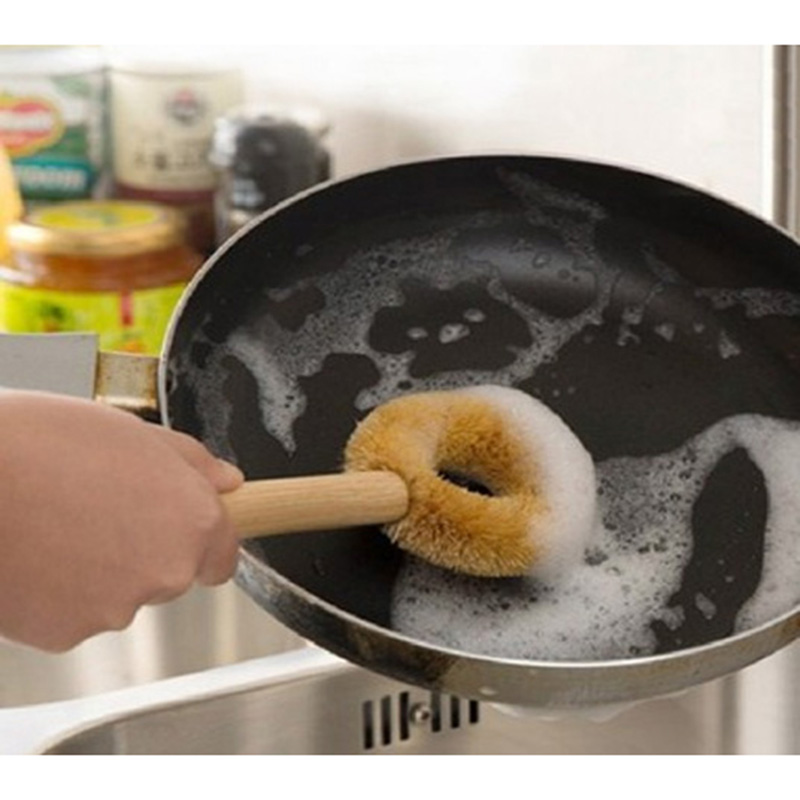 SEIWA-PRO日本厨房锅刷子 洗锅刷  清洁刷子 天然木柄