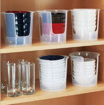 sanada日本小碗收纳架 置物架塑料收纳架