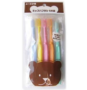 FINE日本儿童牙刷硬毛(5个入4-6岁用)(该商品仅做现货不接预定单,请知悉!!!)