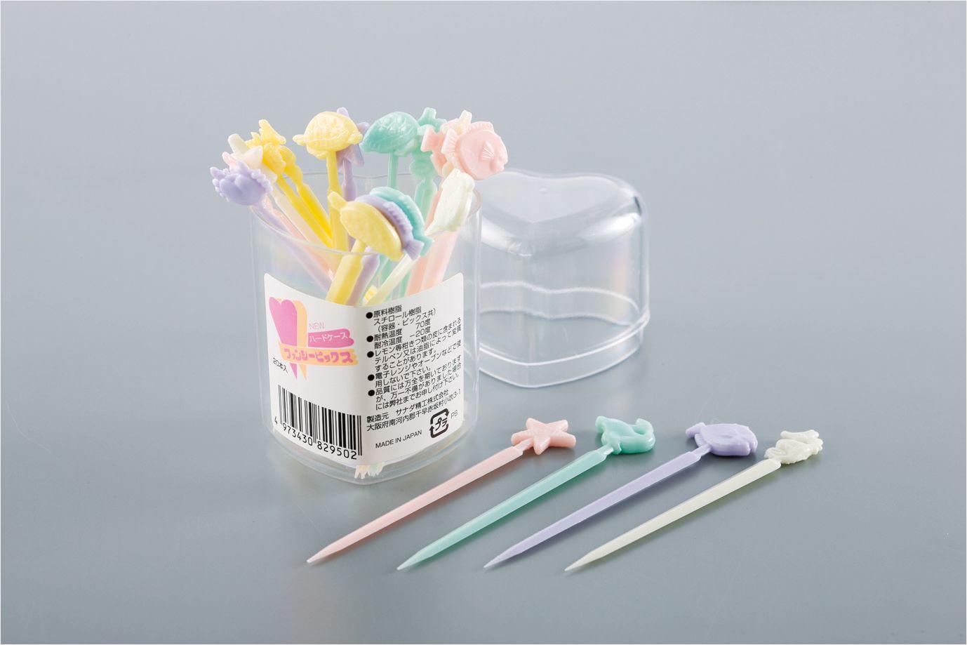 ✪sanada日本进口水果叉  沙拉水果签塑料水果签