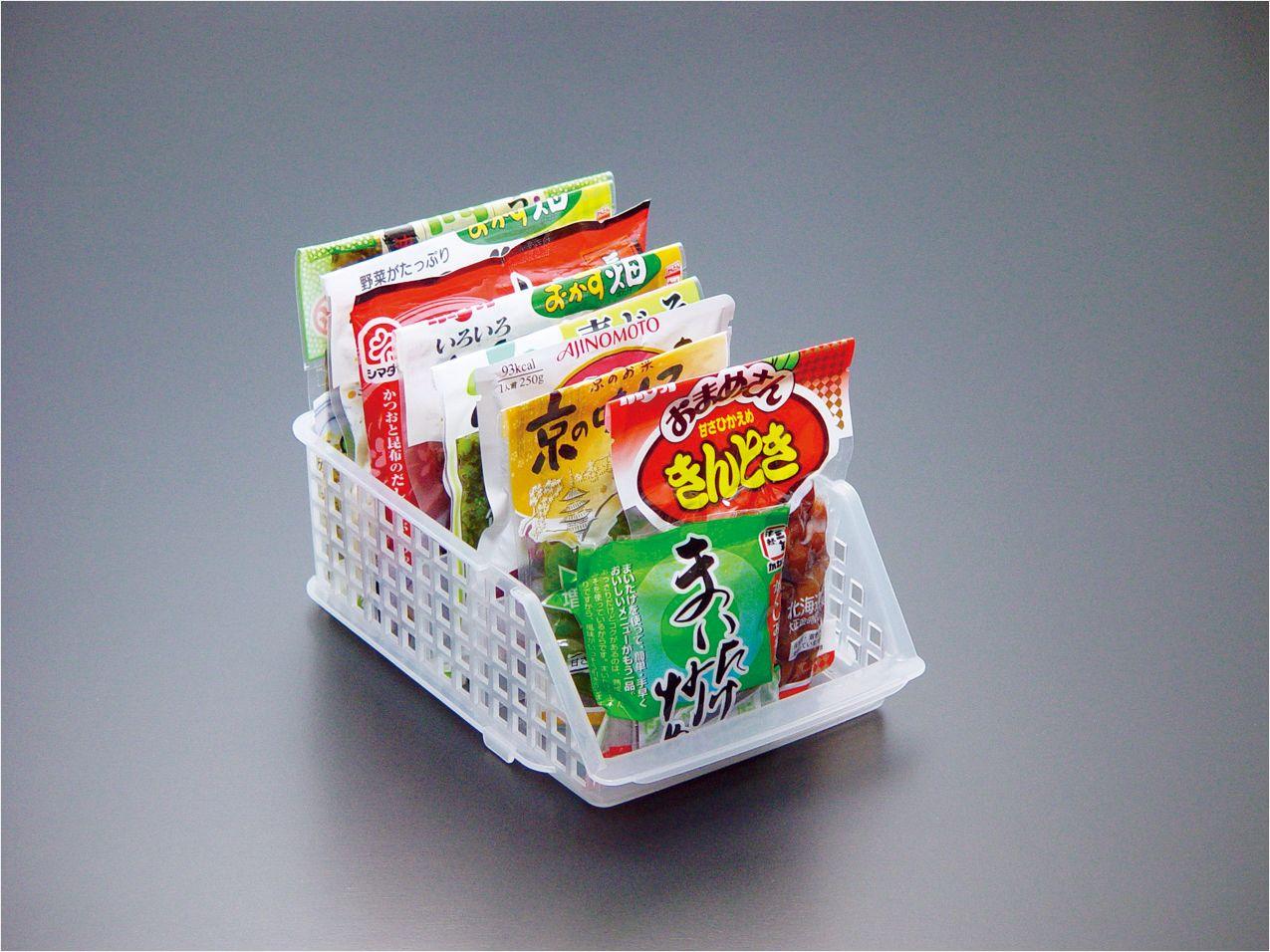 ✪sanada日本进口冰箱收纳 带分格  可叠加 收纳筐
