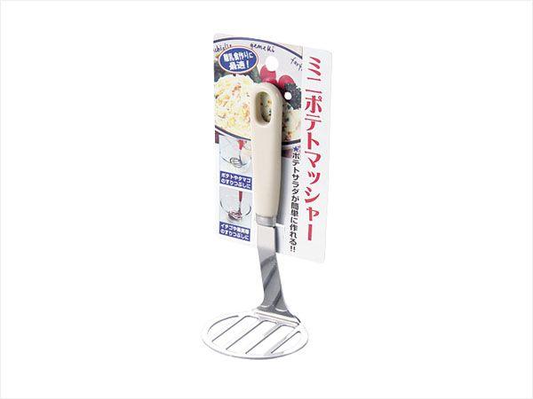 ECHO日本进口土豆压泥器 不锈钢压薯器  烙饼压油器  白色