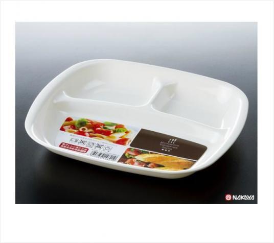 NAKAYA日本微波炉餐盘(白色)