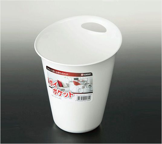 NAKAYA日本彩色垃圾桶(白色)塑料垃圾桶